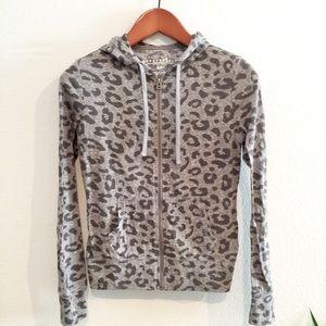 Aeropostale Leopard Hoodie Jacket